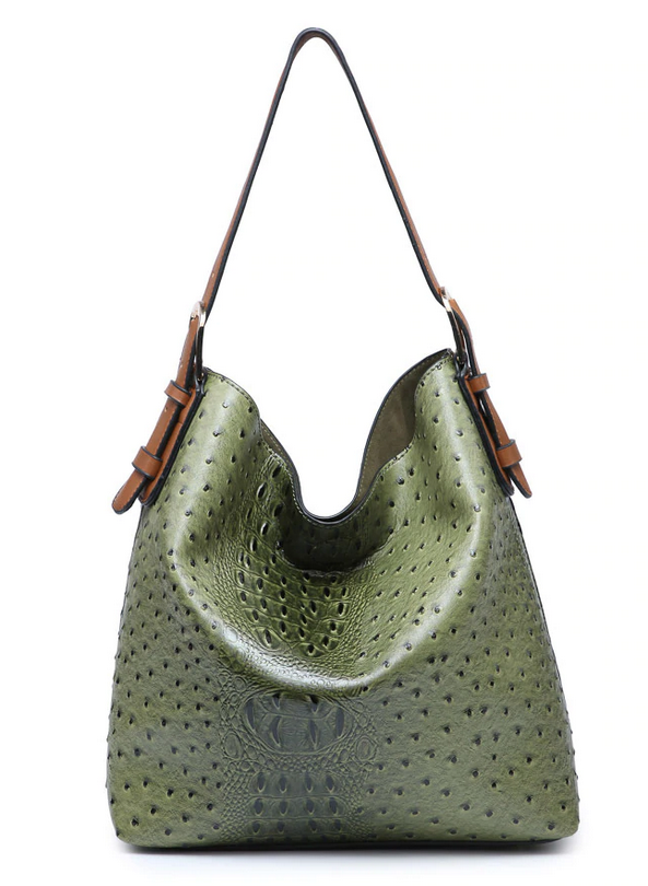 Vegan Leather Boardwalk Bag In A Bag Green