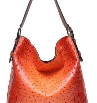 Vegan Leather Boardwalk Bag In A Bag Orange