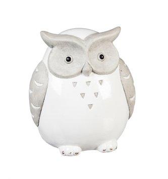 Ceramic Gray and White Owl