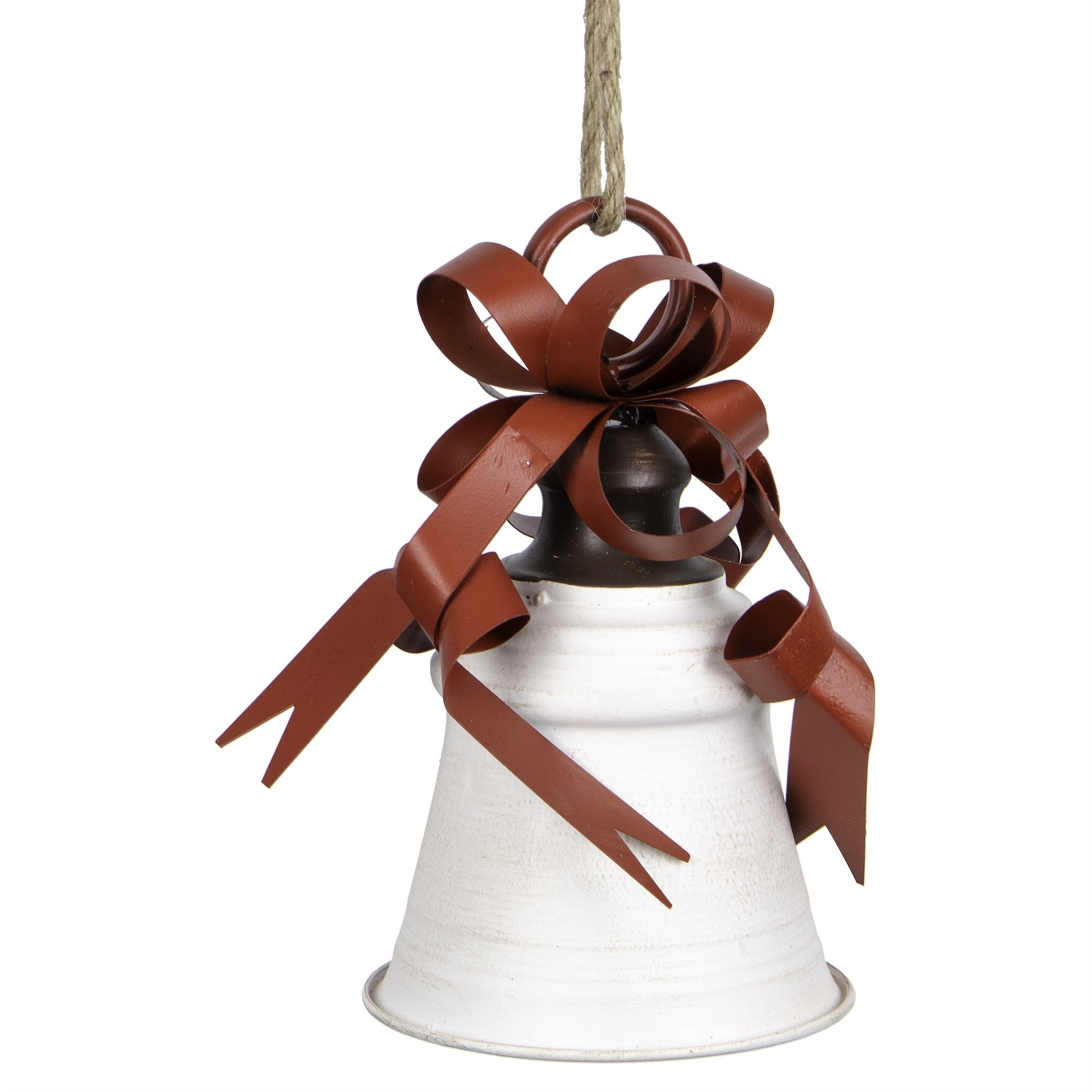 Red & White Metal Bell w/ Bow