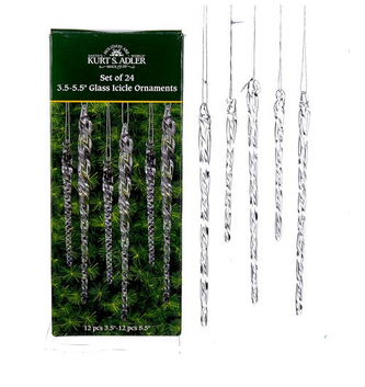 Set of 24 Glass Icicles