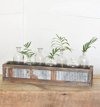 7-Bottle Rustic Farmhouse Crate