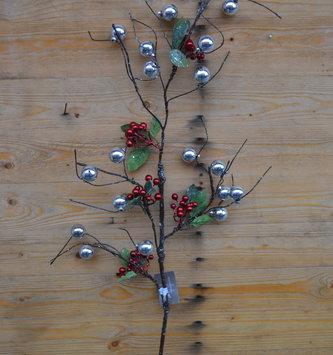 Sparkle Holiday Berry Branch Spray
