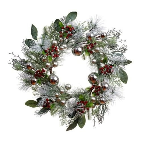 "26"" Holiday Winter Pine Wreath"