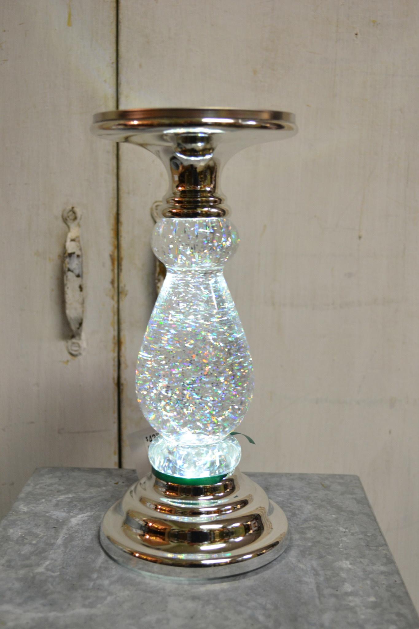 Glitz Snow Globe Candlestick