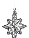 Silver Beaded Wire Ornament
