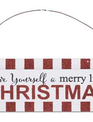 Red and White Christmas Message Ornament