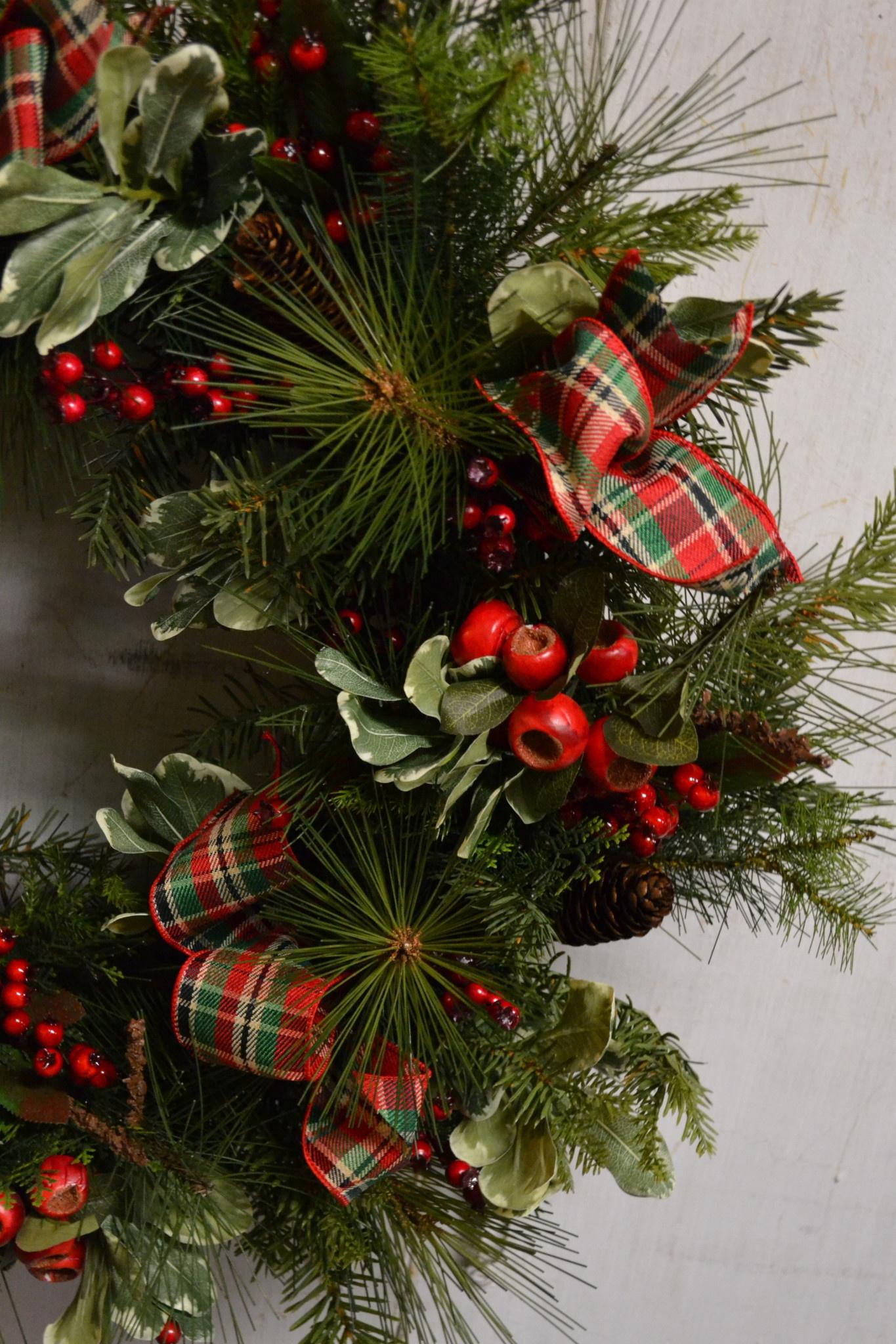 Custom Christmas Country Berry Wreath