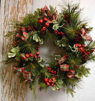 Custom Christmas Country Berry Wreath