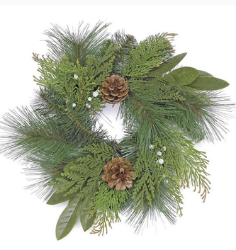 Woodland Pinecone Greenery Candle Ring