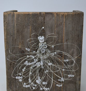 Large Hand-Made Whimsical Wire Angel Ornament (5 Styles)