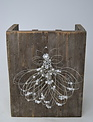 Large Hand-Made Whimsical Wire Angel Ornament