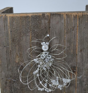 Small Hand-Made Whimsical Wire Angel Ornament (7-Styles)