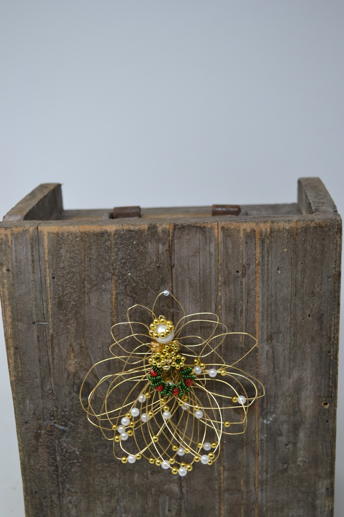 Small Hand-Made Whimsical Wire Angel Ornament