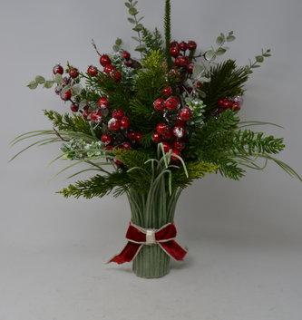 Custom Frosted Boxwood Grass Vase