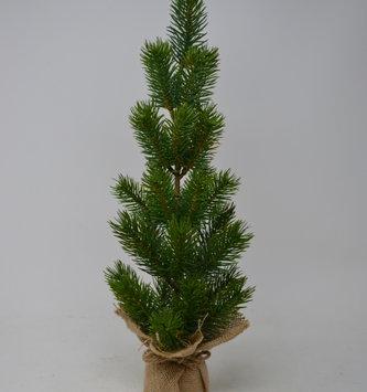 "17"" Evergreen Pine Tree in Burlap"