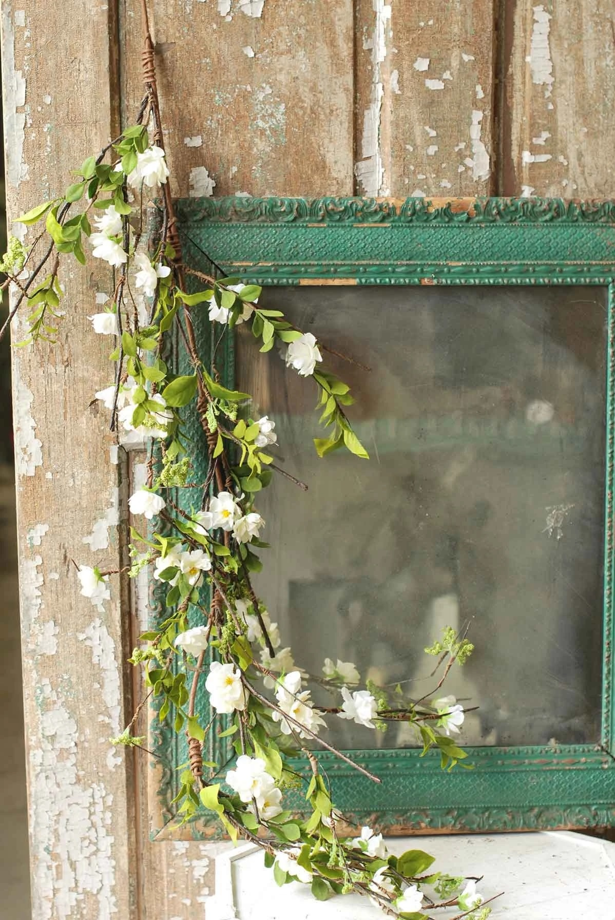 4-Ft. White Cherry Blossom Garland