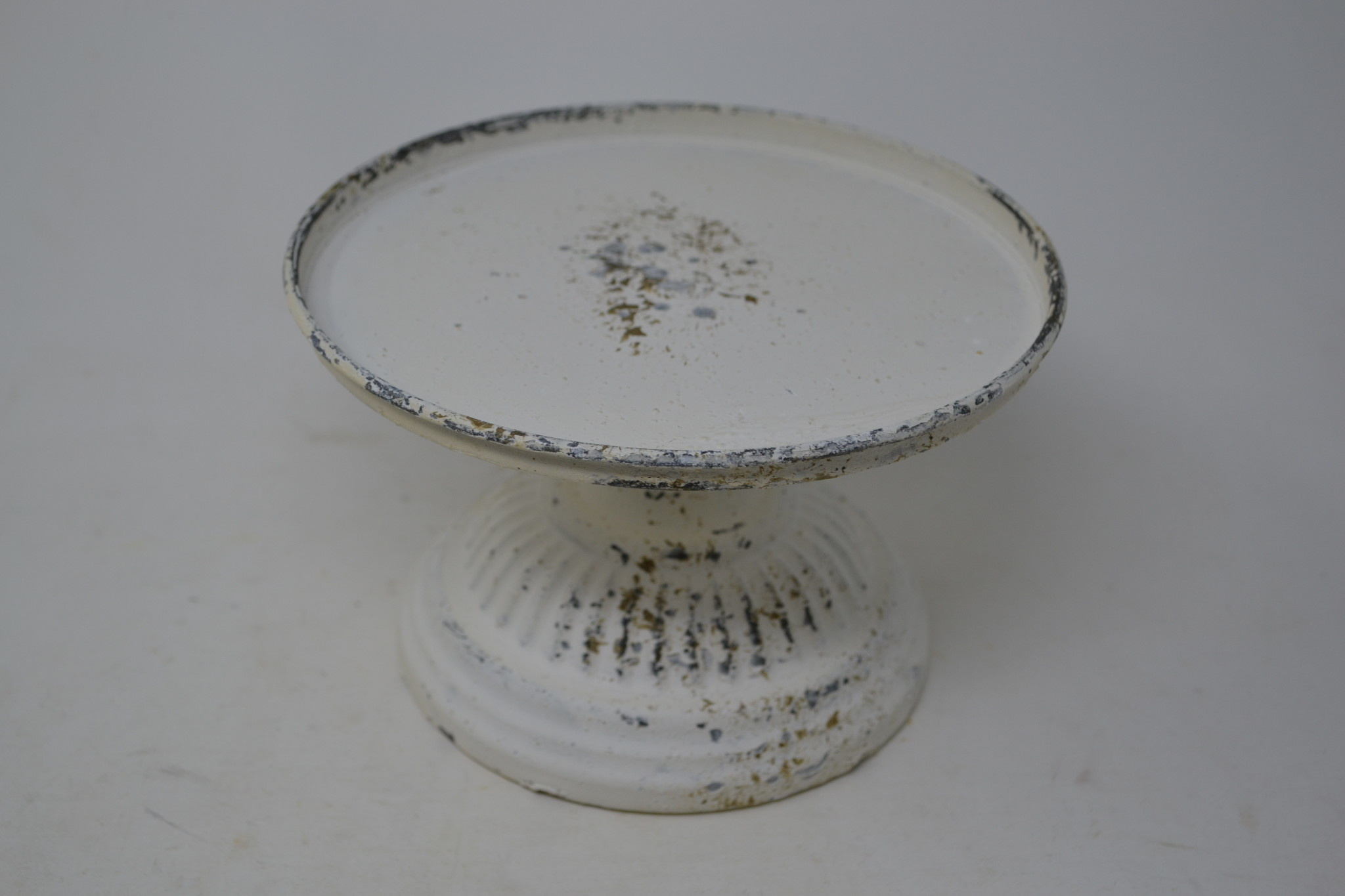 """6.5"""" Ribbed Vintage Pedestal Candle Holder"""