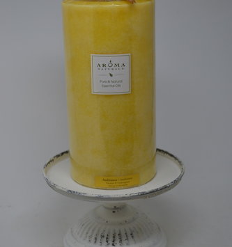 "6.5"" Ribbed Vintage Pedestal Candle Holder"