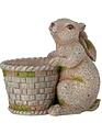 Twisted Ear Mossy Bunny with Basket