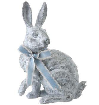 Sitting Blue Bunny w/ Bow (2 Styles)
