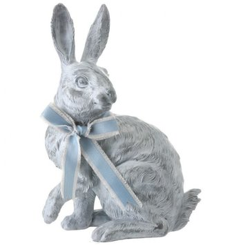 Sitting Blue Bunny with Bow (2 Styles)