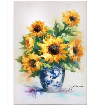Sunflowers in Vase Painted Canvas (2 Sizes)