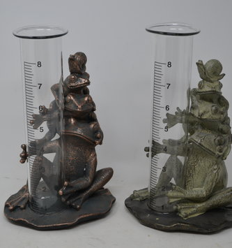 Stacked Frogs Rain Gauge (2 Styles)