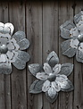 Galvanized Enamel Wall Flower (3 Styles)