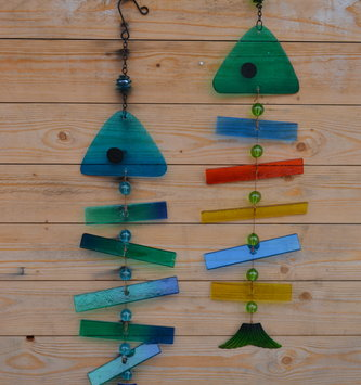 Glass Fish Bone Wind Chime Decor (2 Styles)