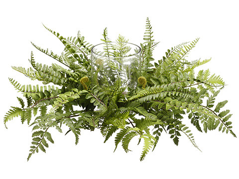 Mixed Fern Candle Holder