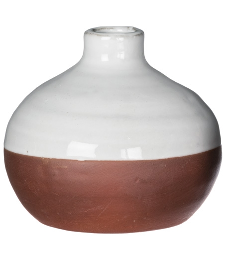 Two-Tone Small Pottery Vase