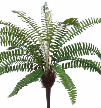 "17"" Woodland Fern Bush with Fronds"