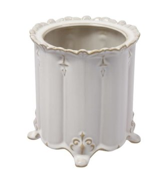 Small Cream Scalloped Vase