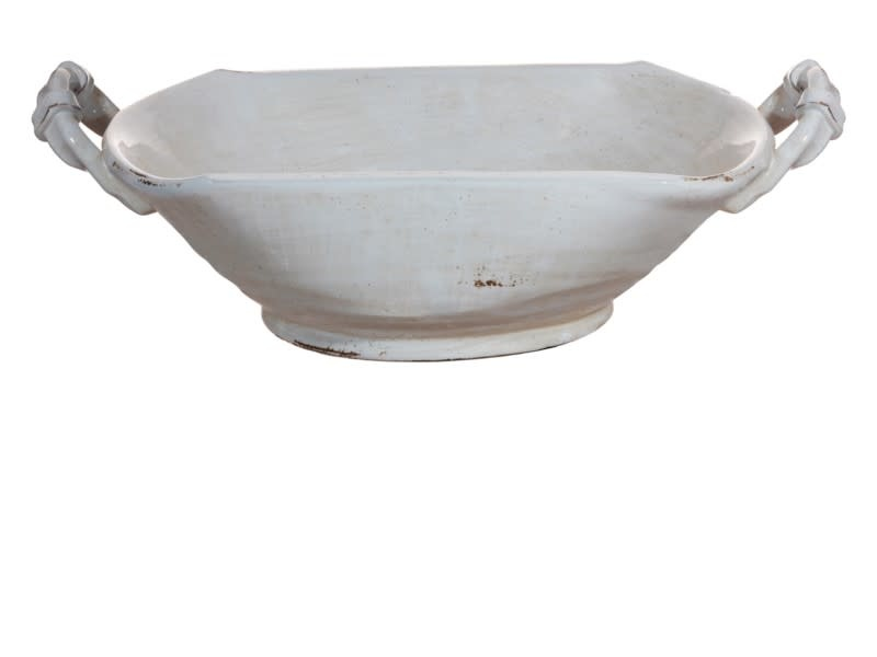 Antiqued Potter's Handled Planter Bowl