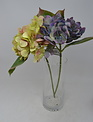 """17"""" Hydrangea Pick with Leaves (3-Colors)"""