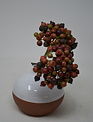 "9"" Burgundy Berry Cluster Pick"