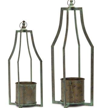 Open Iron Candle Holder Lantern (2-Sizes)