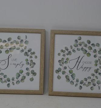 Framed Foliage Print (2-Styles)