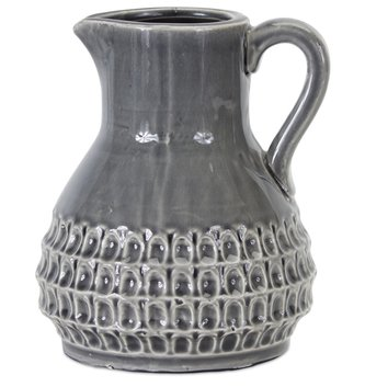 Textured Dark Gray Pitcher (2-Sizes)