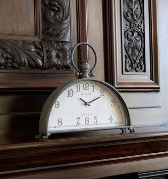 Vintage Metal Mantle Clock