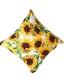 Embroidered Sunflower Pillow