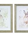 Framed Rabbit in Meadow Print (2 Styles)