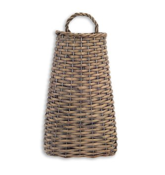 "14"" Brown Woven Willow Wall Basket"