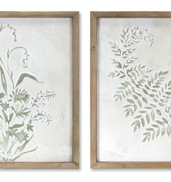 Framed Metal Botanical Print (2-Styles)