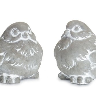 Set of 2 Cement Birds