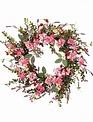 "24"" Pink Phlox & Lavender Wreath"