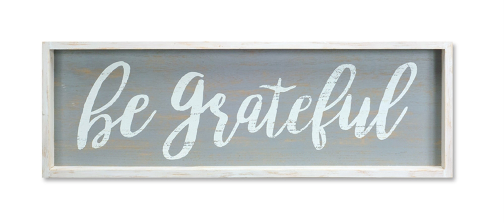Be Grateful Framed Distressed Wooden Sign