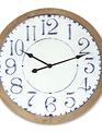 Wood Framed Circular Clock