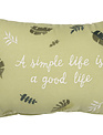 Embroidered Simple Life Tassel Pillow